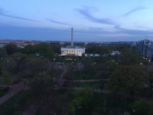 View of White House and Washington Monument from SurgeonsPAC Reception