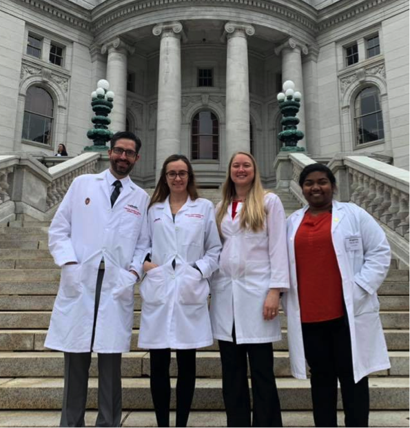 2019 Doctor Day WSS Resident Member Participants at the State Capital